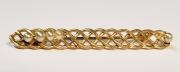 Anstecknadel, vergoldet mit Perlenstrang (fehlende Perlen)