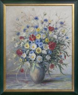 Bauernstrauß - Ölgemälde, 58 x 46 cm