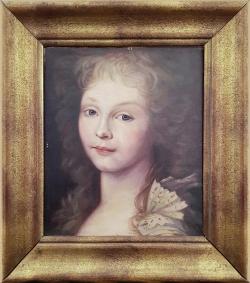 Portrait Anna Ruf,  Ölgemälde, 28 x 60 cm