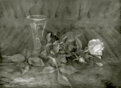 Stillleben - Fotoplatte, Ölgemälde, 1945