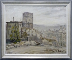 Unsere Schlosskirche - Ölgemälde, 62 x 49 cm, 1946