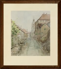Besigheim - Aquarell, 40 x 35 cm, 1941