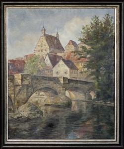 Besigheim - Ölgemälde, 59 x 71 cm