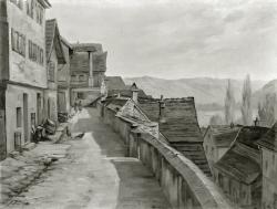 Besigheim - Fotoplatte, Ölgemälde, 1940