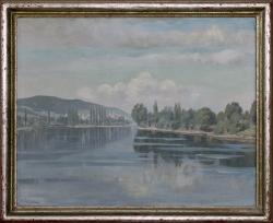 Insel Reichenau - Ölgemälde, 1943
