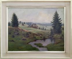 Im Schwarzwald - Ölgemälde, 60 x 47 cm, 1937