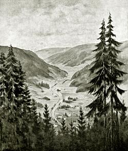 Sommerberg ins Enztal - Fotoplatte, Ölgemälde