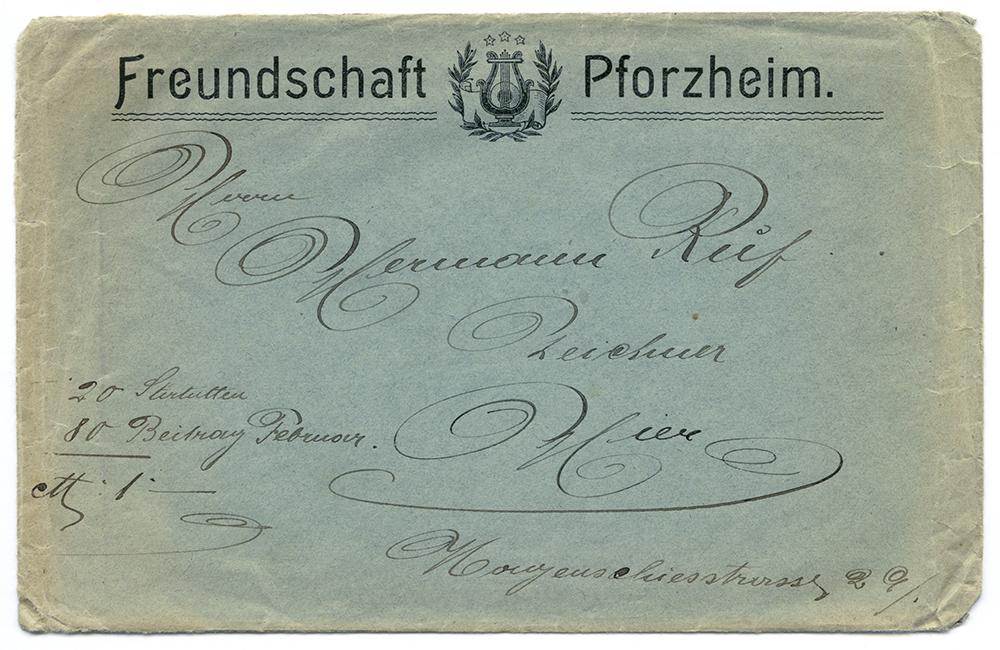 Gesangvereins-Freundschaft Brief