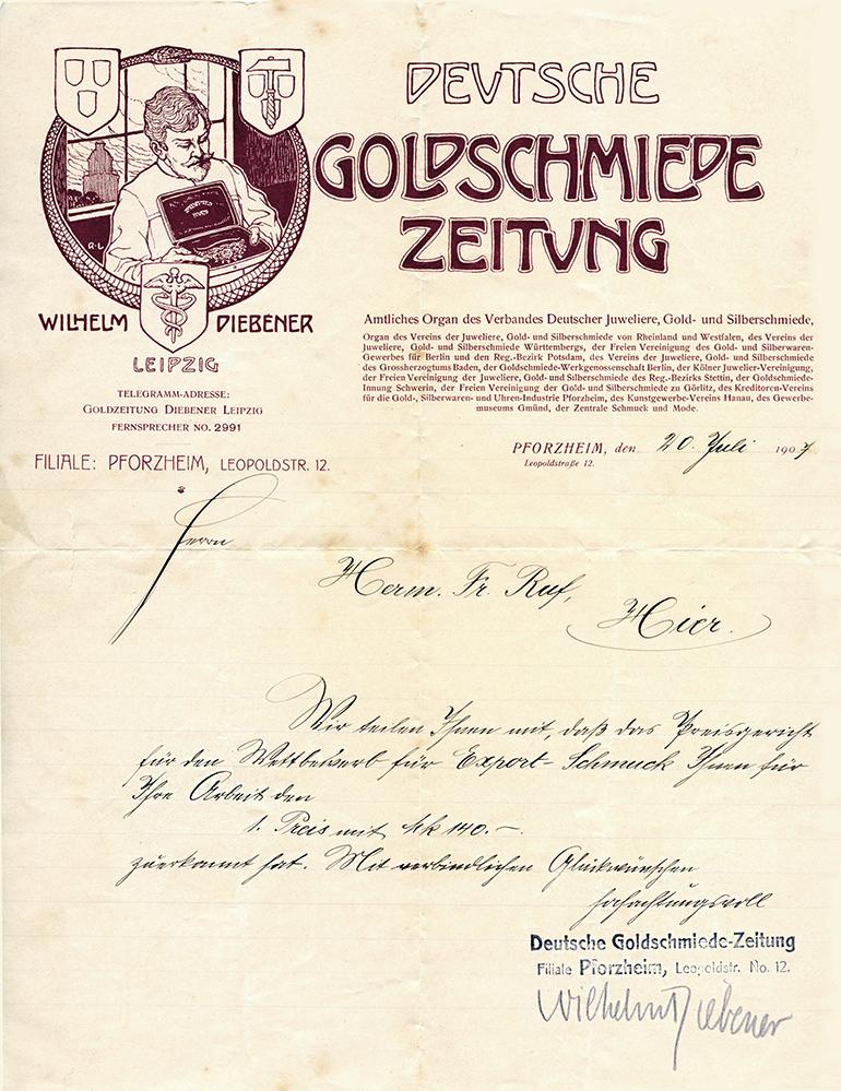 Preisverleihung Schmuck 1907