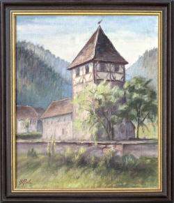 Kirche in Kentheim - Ölgemälde, 38 x 46 cm