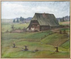 Teiner Fonis Hof  bei Schönwald - Ölgemälde, 47 x 39 cm, 1943