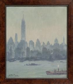 Studie Empire Center - Ölgemälde, 36 x 32 cm, 1950